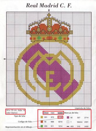 Trama escudo Real Madrid