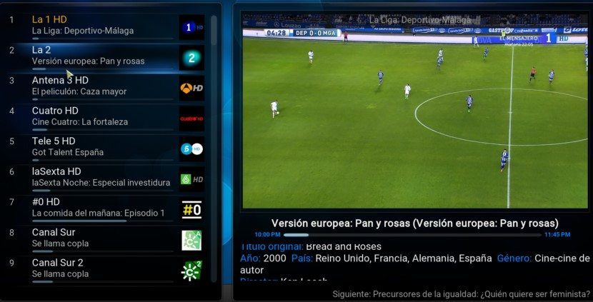 Tv en directo Raspberry Pi