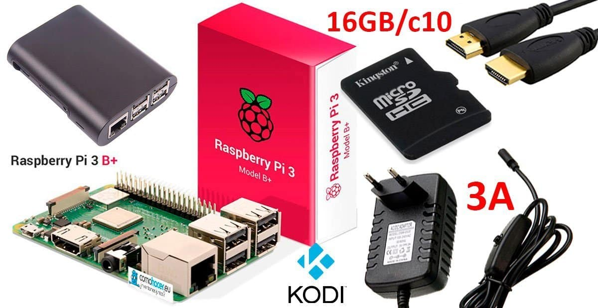 Kit Media Center Raspberry Pi 3 B+ (Plus) | KODI en LibreELEC | Addons 3